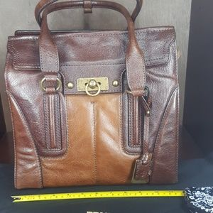Frye two toned Brown purse